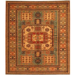 Herat Oriental Afghan Hand-knotted Vegetable Dye Tribal Shirvan Wool Rug (4'9 x 5'4)
