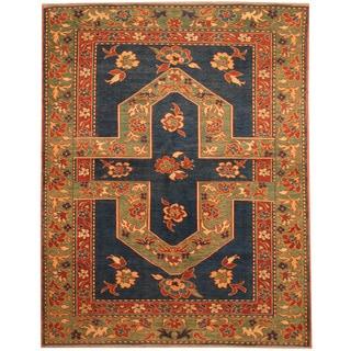 Herat Oriental Afghan Hand-knotted Vegetable Dye Tribal Shirvan Wool Rug (4'1 x 5'1)