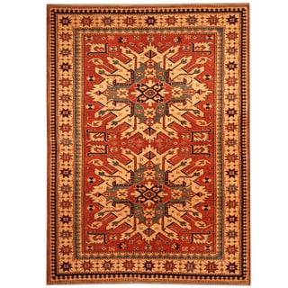 Herat Oriental Afghan Hand-knotted Vegetable Dye Tribal Shirvan Wool Rug (4' x 5'1)