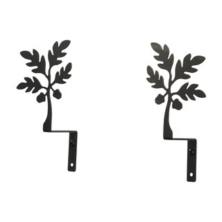 Wrought Iron Acorn Curtain Swags