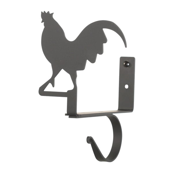 Shop Rooster Black Wrought Iron Curtain Shelf Brackets
