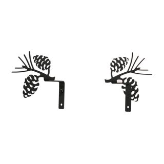 Wrought Iron Pinecone Curtain Swags