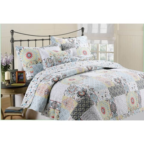 Moorea 3-piece Quilt Set - Multi