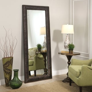 Delano Transitional Leather 70-inch Floor Mirror - Brown By Abbyson - N/A