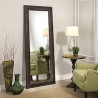 Abbyson Delano Leather 70-inch Floor Mirror