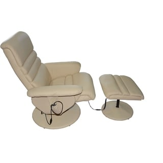 Electric Massage Armchair with Ottoman