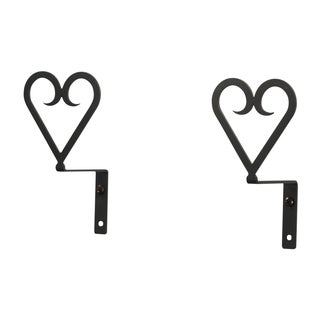 Wrought-iron Heart Curtain Swags