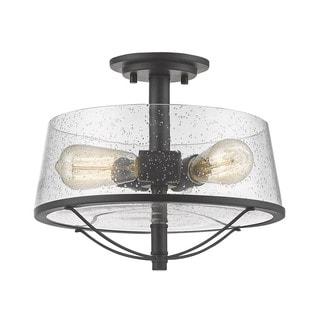 Z-Lite Mariner Bronze 3 Light Semi-Flush