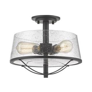 Avery Home Lighting Mariner Bronze 3 Light Semi-Flush