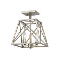 Avery Home Lighting Tressle Antique Silver 3 Light Semi-Flush