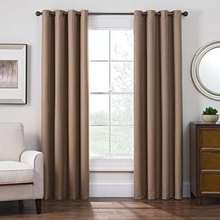 Style Decor Antique Satin Grommet Top Blackout Curtain Panel
