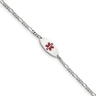 Versil Sterling Silver Enameled Medical Jewelry Bracelet