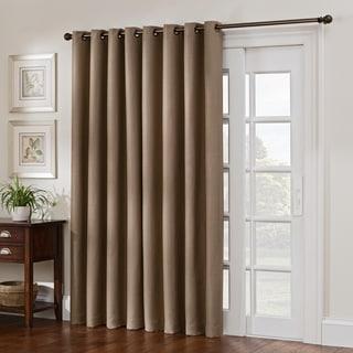 Style Decor Antique Satin Grommet-top Blackout Patio Curtain Panel