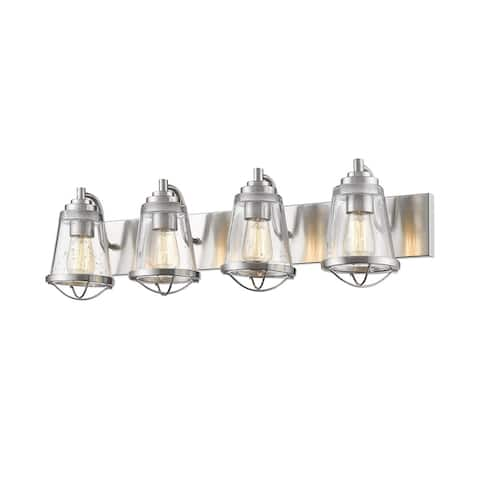 Avery Home Lighting Mariner Brushed Nickel 4 Light Vanity