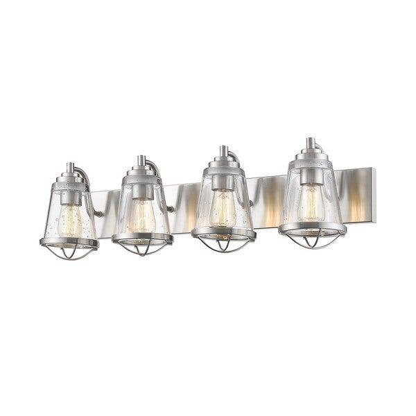 4 light vanity modern avery home lighting mariner brushed nickel light vanity shop