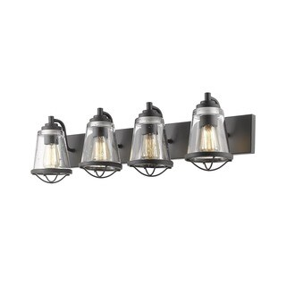 Avery Home Lighting Mariner Bronze 4 Light Vanity