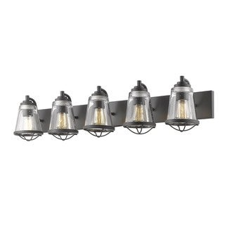 Avery Home Lighting Mariner Bronze 5 Light Vanity