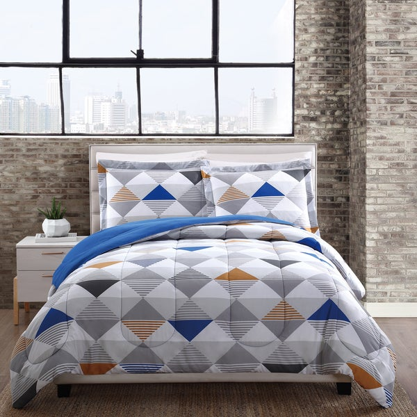 Style 212 Metro Triangles Reversible Comforter 3 Piece Set