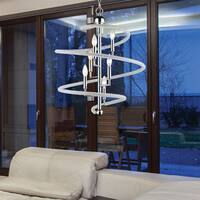 Avery Home Lighting Czarina  Chrome  6 Light Pendant