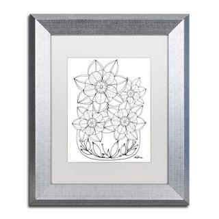 KCDoodleArt 'Flower Design 5' Matted Framed Art