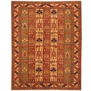 Herat Oriental Afghan Hand-knotted Vegetable Dye Tribal Shirvan Wool Rug (5'3 x 6'7)
