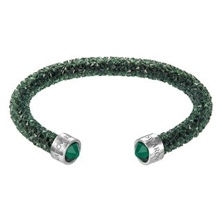 Women's Crystal dust Green Stainless Steel Cuff