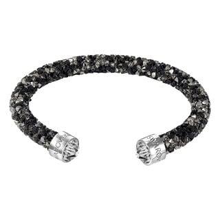 Women's Stainless Steel Rolled Rocks Cuff Bracelet