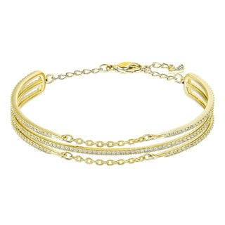 Gold-plated Crystal Women's Fine Bangle