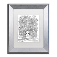 KCDoodleArt 'Flower Girls 18' Matted Framed Art - Black/White