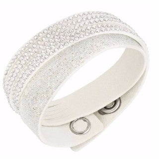 Women's Slake Crystal Duo White Bracelet