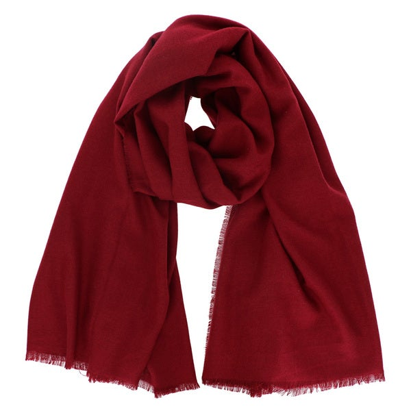 LA77 Women's Soft and Cozy Solid Color Oblong Scarf