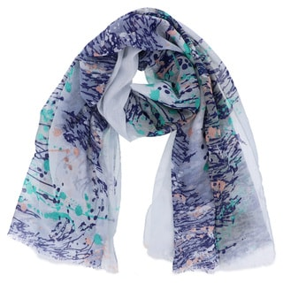 Colorful Spattering Print Scarf