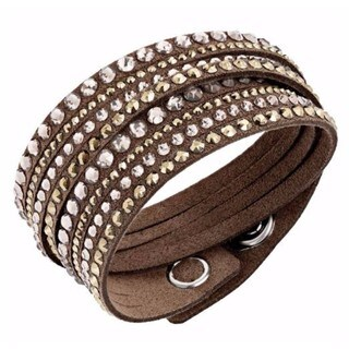 Women's Slake Brown Crystal Bracelet