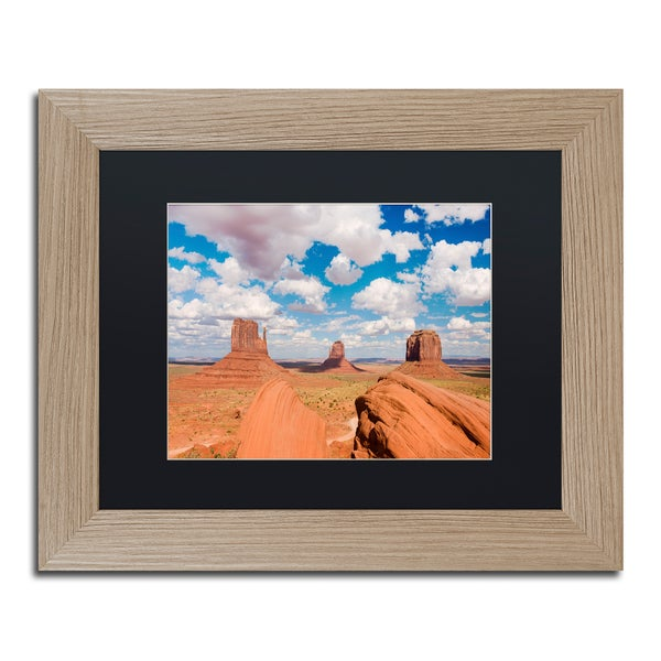 Michael Blanchette Photography 'Sandstone Citadel' Matted Framed Art