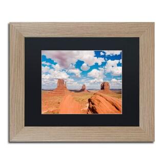 Michael Blanchette Photography 'Sandstone Citadel' Matted Framed Art