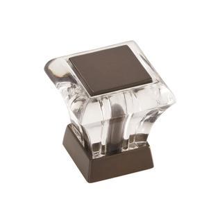 Abernathy Clear/ Caramel Bronze 1-1/16-inch (27mm) Length Knob
