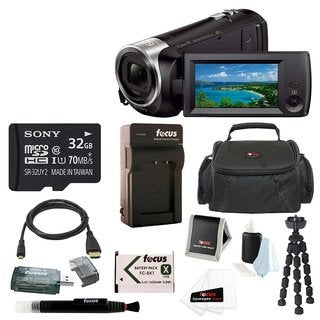 Sony HD Video Recording HDRCX440 Handycam Camcorder with 32GB Deluxe Accessory Bundle
