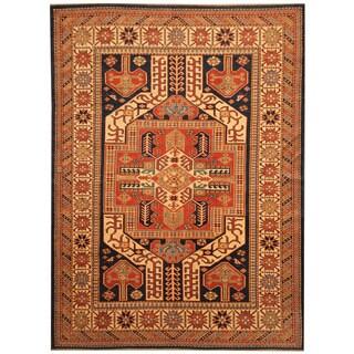 Herat Oriental Afghan Hand-knotted Vegetable Dye Tribal Shirvan Wool Rug (5'10 x 7'10)