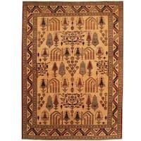 Herat Oriental Afghan Hand-knotted Vegetable Dye Tribal Shirvan Wool Rug (5' x 6'8)