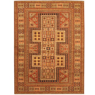 Handmade Vegetable Dye Shirvan Wool Rug (Afghanistan) - 4'10 x 6'4
