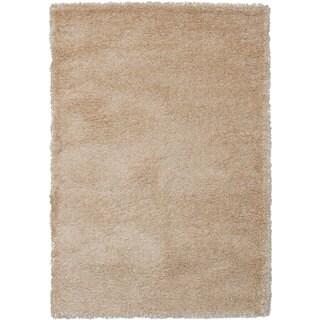 EcarpetGallery Soho Ivory-colored Polypropylene Shag Rug (5'5 x 7'7)
