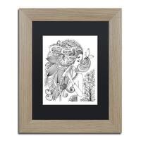 KCDoodleArt 'Flower Girls 24' Matted Framed Art