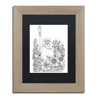 KCDoodleArt 'Flower Girls 8' Matted Framed Art