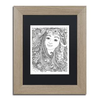 KCDoodleArt 'Flower Girls 4' Matted Framed Art