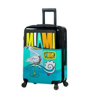 Mia Toro ITALY Lebo Destination USA 24-inch Fashion Hardside Spinner Suitcase