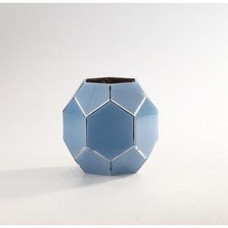 Blue Glass Geometric Vase