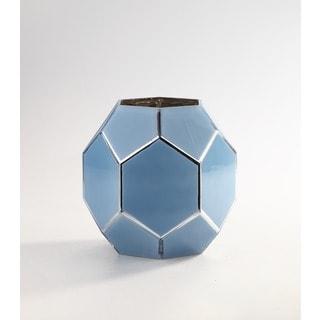 Blue Geometric Vase