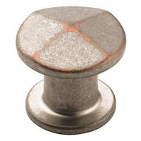 Vasari Weathered Nickel Copper 1-1/4-inch (32mm) Diameter Knob