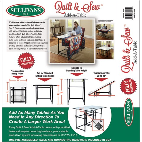 Sullivans Quilt and Sew Sewing Machine Add A Table