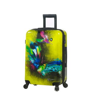 Mia Toro ITALY Prado Butterfly Kiss 24-inch Fashion Hardside Spinner Upright Suitcase
